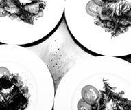 黑白变黑的鱼 免版税库存图片