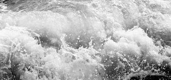 黑白和蓝色海 免版税库存照片