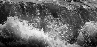 黑白和蓝色海 库存图片