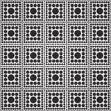 黑白圆点正方形摘要设计瓦片样式关于 免版税库存照片