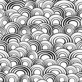 黑白圈子无缝的样式,传染媒介背景 单色抽象创造性的时髦的简单的背景为 免版税库存图片