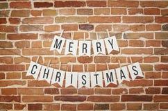 黑白圣诞快乐纸牌旗子诗歌选 免版税库存照片