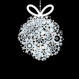 黑白圣诞节球。+ EPS10 图库摄影