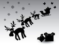 黑白圣诞节驯鹿eps10 库存照片