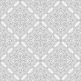 黑白坛场的无缝的样式 线艺术背景 免版税库存照片