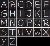 白垩书法字母表 库存图片