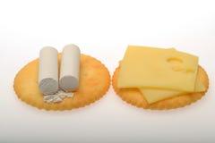白垩和乳酪 库存图片
