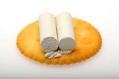 白垩和乳酪 免版税库存图片