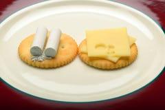 白垩和乳酪 图库摄影