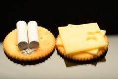 白垩和乳酪 免版税库存照片