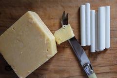 白垩和乳酪 库存照片