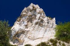 白垩岩石 库存图片