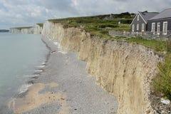白垩峭壁在苏克塞斯 英国 免版税库存照片