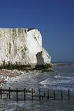 白垩峭壁沿岸航行英国苏克塞斯 库存图片