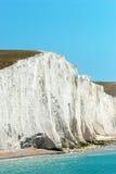 白垩峭壁特写镜头英国七个姐妹 免版税库存照片