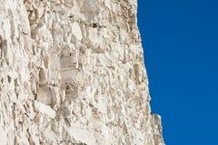 白垩峭壁,踩着旋转的空白,东萨塞克斯郡,英国 图库摄影