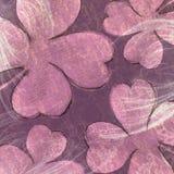 白垩手拉三叶草的叶子速写了艺术 库存照片