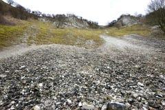 白垩矿场 库存图片