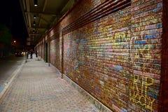 白垩街道画墙壁 图库摄影