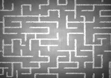 白垩被画的迷宫 免版税库存照片