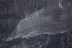 白垩踪影在黑板的 免版税库存照片