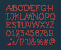 白垩速写了镶边字母表abc向量字体 免版税库存图片