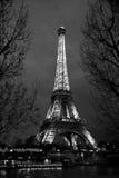黑白埃菲尔巴黎 免版税库存图片