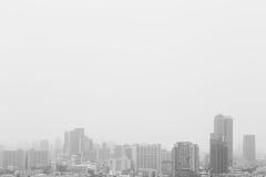 黑白城市 免版税库存图片