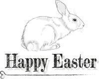 黑白复活节卡片 免版税库存图片