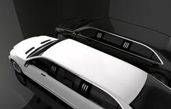 黑白大型高级轿车 皇族释放例证