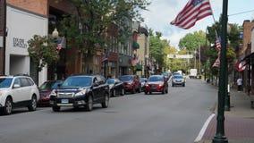 白天建立的射击商业区在小镇美国 股票视频