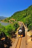 白天引擎和平的南部的蒸汽 免版税库存图片