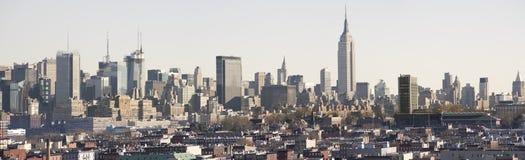 白天曼哈顿全景 免版税库存照片