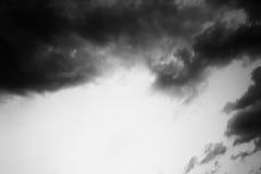 黑白天空 库存图片