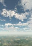 白天背景垂直 库存照片