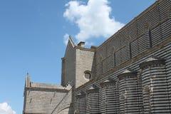 黑白奥尔维耶托大教堂 图库摄影