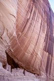 白宫废墟在Canyon de Chelly -垂直的看法 库存图片