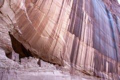 白宫废墟在Canyon de Chelly 库存照片