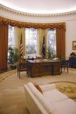 白宫椭圆形办公室的复制品 库存图片