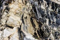 黑白岩石结构 免版税库存照片
