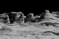 黑白岩石 库存图片