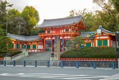 白川町河夜视图在Gion 库存照片