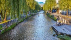 白川町运河在京都 免版税库存图片