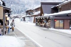 白川町gÅ 和Gokayama历史的村庄  免版税库存照片