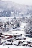 白川町gÅ 和Gokayama历史的村庄  免版税图库摄影