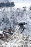 白川町gÅ 和Gokayama历史的村庄  库存图片