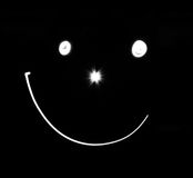 黑白微笑 库存照片