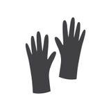 黑白手套标志 免版税图库摄影