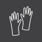 黑白手套标志 免版税库存照片