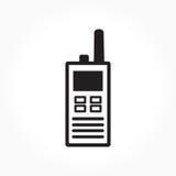 黑白手提电话机标志 免版税库存图片